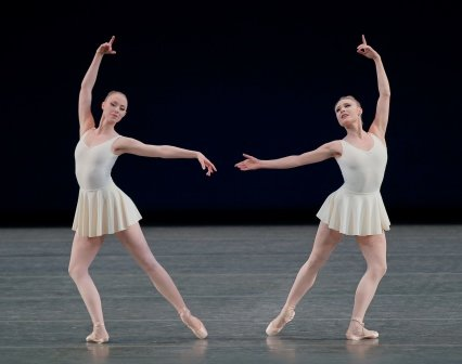 "Sara Mearns and Teresa Reichlen in a prior performance of George Balanchine's ""Concerto Barocco"" Photo Paul Kolnik"