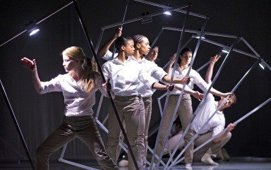 Rambert Dance Company in Alexander Whitley's Frames.  Photo Tristam Kenton