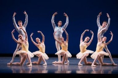 Boston Ballet's Next Generation. Ladies (l-r) Angela Bishop, Riko Fujita, Alexandra Heier, Brenna Flaherty, Lauren Wolfram.  Men (l-r) Alexander Maryianowski, Desean Taber, Xavier Reigneau-Hawke. Photo Rosalie O'Connor