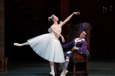 Sterling Hyltin and Joaquin de Luz in La Sylphide.  Photo Paul Kolnik