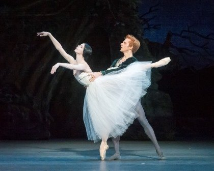 "Natalia Osipova, here with Steven McRae in a prior performance of ""Giselle"" Photo by Gene Schiavone"