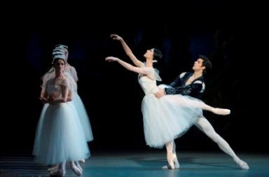 """Paloma Herrera and Roberto Bolle in a prior performance of """"Giselle""""  (here with Paloma Herrera)  Photo by Gene Schiavone"""