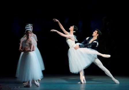 "Paloma Herrera and Roberto Bolle in a prior performance of ""Giselle"" (here with Paloma Herrera) Photo by Gene Schiavone"