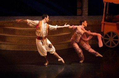 Pedro Santos as Aladdin and Claire Corruble-Cabot as the Princess Photo Fiona Whyte