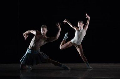 Peter Smida and Emily Chessa of Ballet BC in Twenty Eight Thousand Waves Photo Christopher Duggan