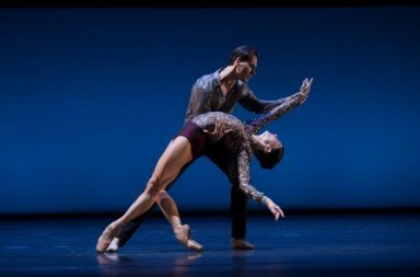 Anna Tsygankova and Jozef Varga in Christopher Wheeldon's Concerto Concordia Photo Angela Sterling