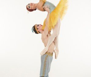 The Trocks do the famous pas de deux from Le Corsaire. (dancers: Carlos Hopuy and Laszlo Major) Photo Zoran Jelenic