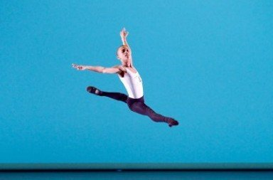 Genée Gold medal winner Leroy Mokgatle in his variation from Kenneth MacMillan's Danses Concertantes Photo Elliott Franks/Royal Academy of Dance