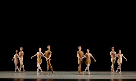 "Members of American Ballet Theatre in Twyla Tharp's ""Brahms-Haydn Variations"" Photo Marty Sohl"