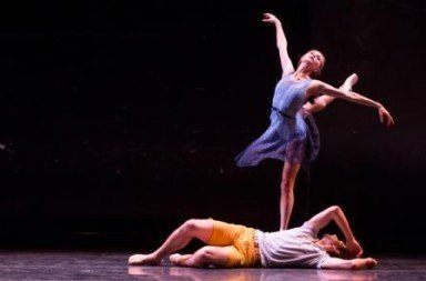 Ashley Laracey and Harrison Coll in Troy Schumancer's Dear and Blackbirds  Photo Matthew Murphy
