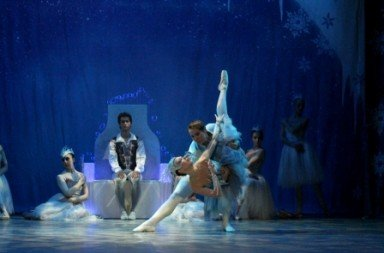 The Snow Queen Claire Corruble Cabot as the Snow Queen and Vincent Cabot as her Cavalier Photo Chaz Barnes