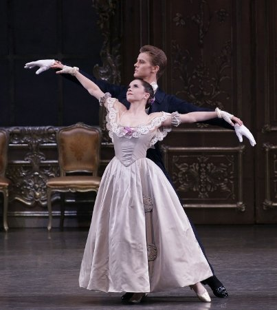 "Megan Fairchild and Chase Finlay in ""Liebeslieder Walzer"" Photo by Paul Kolnik"