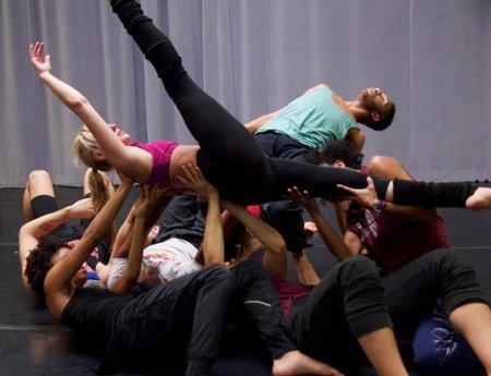 Elisa Monte Dance Company in rehearsal Photo Marni LaRose