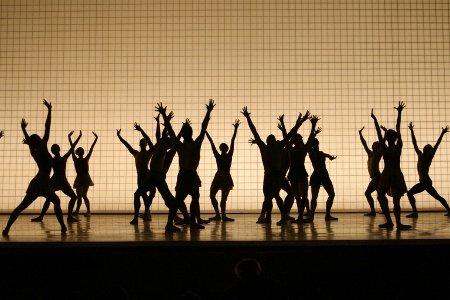 "New York City Ballet dancers in ""Glass Pieces"" Photo Paul Kolnik"