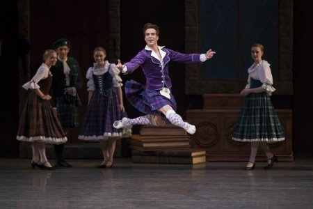 "New York City Ballet's Gonzalo Garcia in ""La Sylphide"" Choreography by August Bournonville Photo Paul Kolnik"