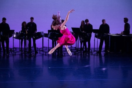"New York Theatre Ballet's Amanda Treiber and NYU Steel in ""Song for Spring"" Photo Rachel Neville"