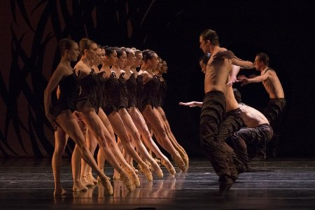"Pacific Northwest Ballet company dancers in ""Emergence"" Photo Lindsay Thomas"
