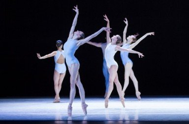 "Pacific Northwest Ballet's Sarah Pasch with company dancers in ""A Million Kisses to my Skin"" Photo Lindsay Thomas"