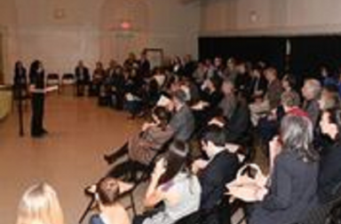 Audience at YAGP special event The Making of a Pointe Shoe Photo Annie Watt