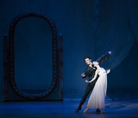 "Boston Ballet's Petra Conti and Lasha Khozashvili in John Cranko's ""Onegin"" Photo Gene Schiavone"
