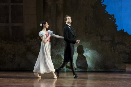 "Boston Ballet's Erica Cornejo and Paulo Arrais in John Cranko's ""Onegin"" Photo Liza Voll"