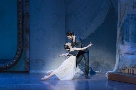 """Boston Ballet's Erica Cornejo and Paulo Arrais in John Cranko's """"Onegin"""" Photo Liza Voll"""