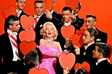 "Marilyn Monroe in a clip from ""Diamonds are a Girl's Best Friend"""