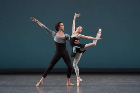 "New York City Ballet's Ashley Laracey and Zachary Catazaro in ""Ash"" Photo Paul Kolnik"