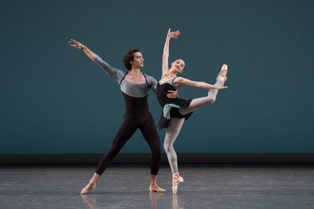 "New York City Ballet's Ashley Laracey and Zachary Catazaro in ""Ash"" Photo Paul Kolnik"