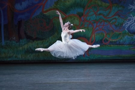 "New York City Ballet's Indiana Woodward in ""La Sylphide"" Photo by Paul Kolnik"