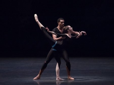 "New York City Ballet's Unity Phelan and Preston Chamblee in ""The Infernal Machine"" Photo Paul Kolnik"