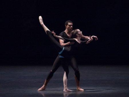 "New York City Ballet's Unity Phelan and Preston Chamblee in ""The Infernal Machine"" Photo Paul Kolnik"