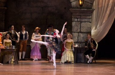 "Pennsylvania Ballet Corps de Ballet Member Ana Calderon (as Kitri) in ""Don Quixote"" Photo Alexander Iziliaev"