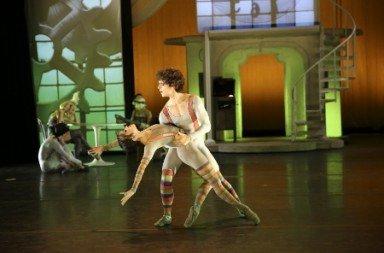 "Nina Yoshida and Erez Ben-Zion Milatin in Michael Chernov's ""Stealing Time"" Photo Travis Magee"