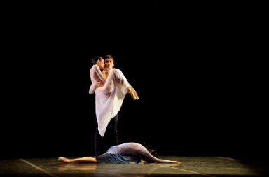"Hong Kong Ballet in the pas de trois from Fei Bo's ""A Room of Her Own"" Photo Conrad Dy-Liacco"