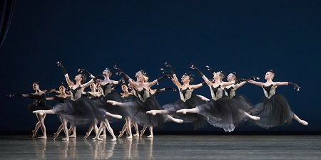 "Miami City Ballet dancers in George Balanchine's ""Bouree Fantasque"" Photo Gene Schiavone"