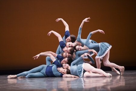 "Pacific Northwest Ballet company dancers in Justin Peck's ""Year of the Rabbit"" Photo Angela Sterling"