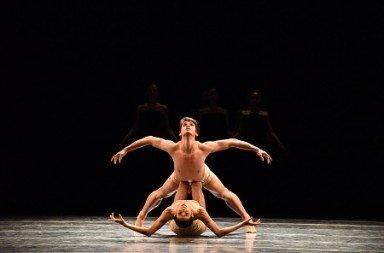 "Tulsa Ballet's Gabriela Gonzalez and João Sampaio in Jiři Kylián's ""Petite Mort"" Photo Tulsa Ballet"