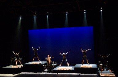 """Dancers of Dorrance Dance in """"ETM: Double Down""""     Photo Christopher Duggan"""