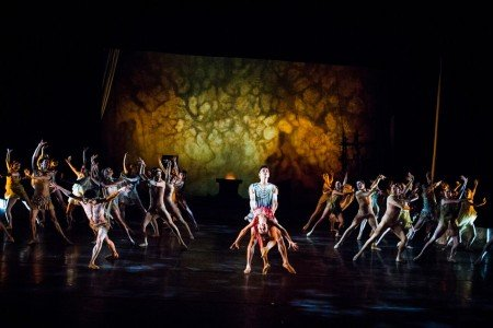 "Nina Yoshida, Gustavo Ramirez, and Dancers of Gelsey Kirkland Ballet in ""Walpurgis Night"" Photo Anna Kuzmina"