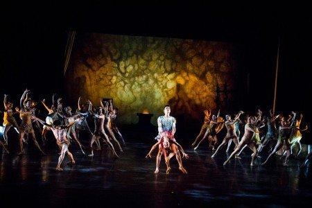 "Nina Yoshida, Gustavo Ramirez, and Dancers of Gelsey Kirkland Ballet in ""Walpurgis Night"" Photo Anna Kuzmina"