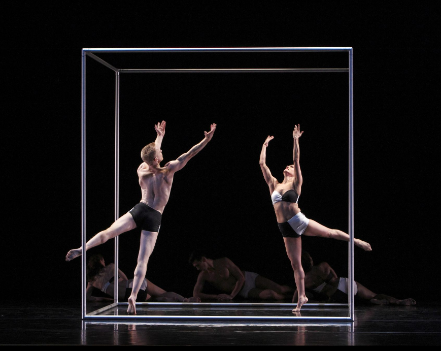 Parisa Khobdeh and Michael Trusnovec in Polaris, photo Paul B. Goode