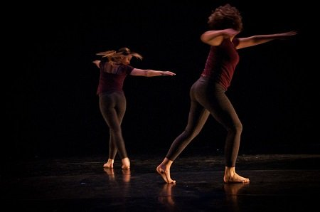 "Alana Johnson and Suz Mena in ""Dmitri Peskov's Void"" Photo Christopher Stevenson"