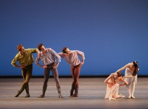 "New York City Ballet in Jerome Robbins' ""Dances at a Gathering"" Photo Paul Kolnik"
