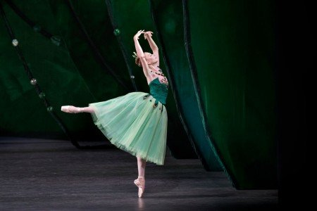 "Ashley Laracey in George Balanchine's ""Emeralds"" Photo Paul Kolnik"