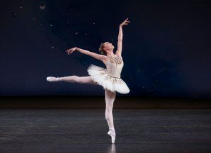 "Sara Mearns in a prior performance of George Balanchine's ""Diamonds,"" from ""Jewels"" Photo credit Paul Kolnik"