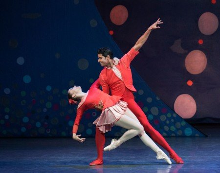 "Unity Phelan and Amar Ramasar in Christopher Wheeldon's ""American Rhapsody"" Photo Paul Kolnik"