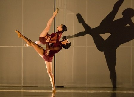 "Oregon Ballet Theatre Xuan Cheng and Jordan Kindell in Nicolo Fonte's ""Beautiful Decay"" Photo Blaine Truitt Covert"