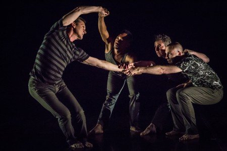 Pictured: Brian Fisher, ArVejon Jones, Sean Dorsey, Nol Simonse in Sean Dorsey Dance's The Missing Generation Photo: Kegan Marling