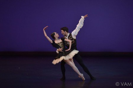 "Hannah O'Neill and Hugo Marchand of the Paris Opera Ballet in the Pas de Deux from ""Esmeralda"" Photo Siggul/VAM"
